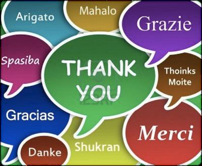 Saludos en diferentes idiomas