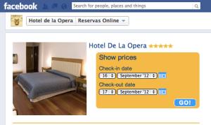 Reservas Facebook Hotel de la Opera