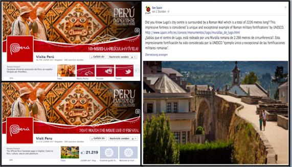 Facebook fanpage Peru y España