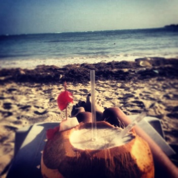 Piña colada en Rockey Cay