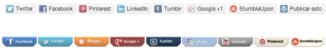 Ejemplo de botones de social share