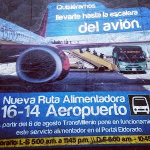 Publicidad Transmilenio Aeropuerto