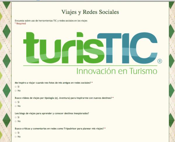 Encuesta Viajes y Redes Sociales